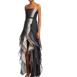 NWT Halston heritage ombré strapless gown dress